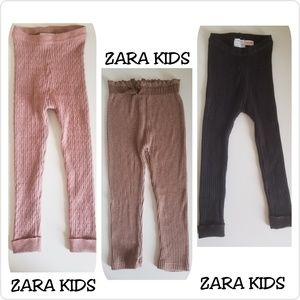 4166bfcc3fb69 Zara Bottoms | Baby Girl Ribbed Leggings Bundle | Poshmark
